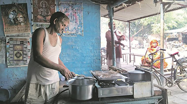village tea stall after currency ban!